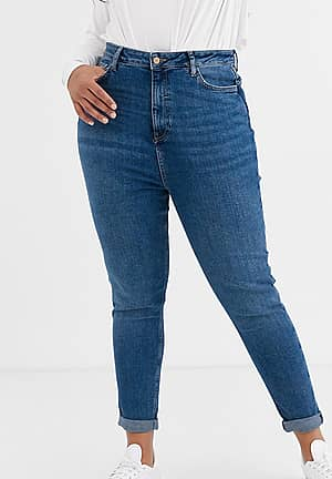 New Look Curve mom jean in blue