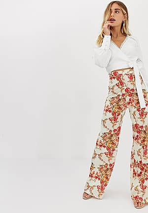 wide leg trouser in floral print