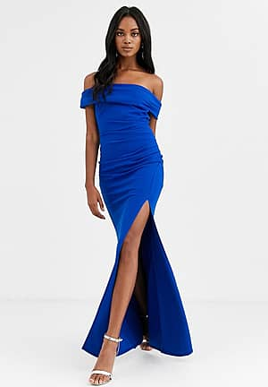 off the shoulder maxi with split