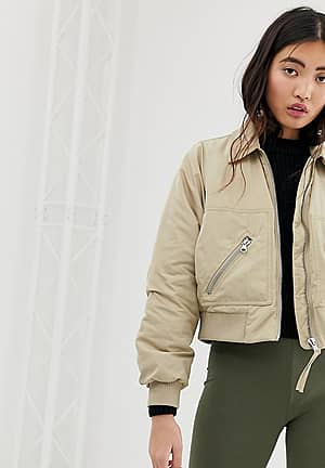 short bomber jacket with over