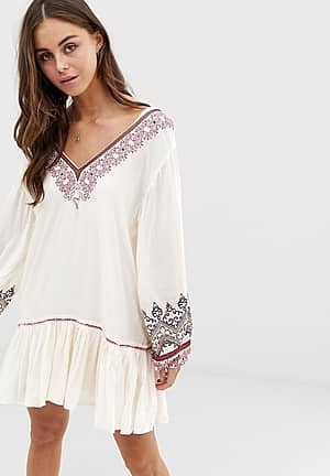 Wild One embroidered dress