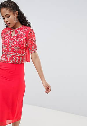 Embellished Top 2 In 1 Pencil Dress