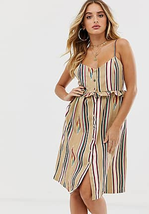 button down printed embroidered beach dress