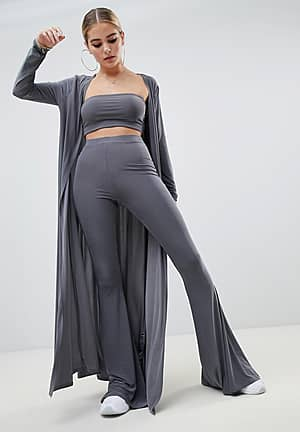 maxi jacket Co-ord in grey
