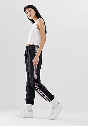 tracksuit bottoms with logo taping
