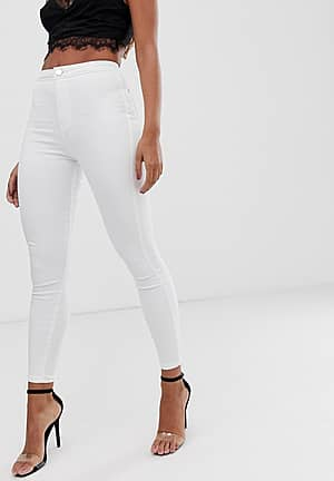 Rivington high waisted stretch powerhold denim jeggings in optic white