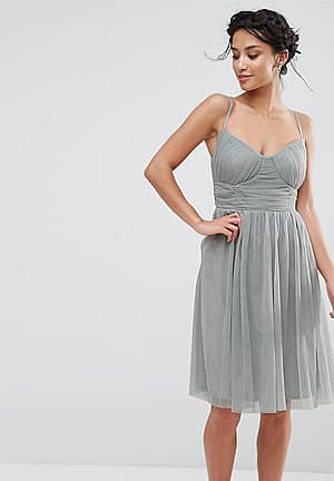 All Over Tulle Prom Skater Dress With Corset Detail