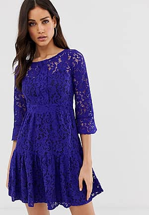 Closet lace full skirt dress