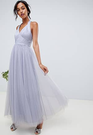 soft tulle maxi dress