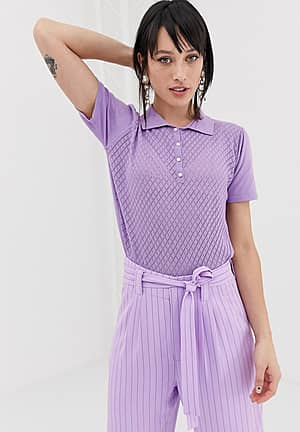 Lisah knitted polo top