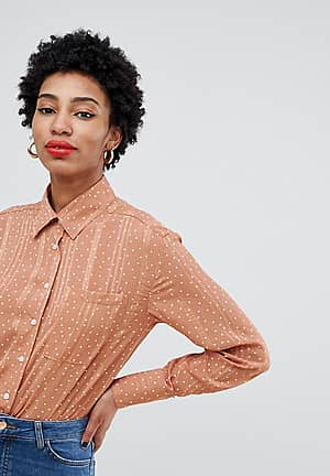 relaxed sheer shirt in subtle spot