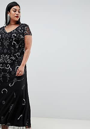 Lovedrobe Lux all over embellished maxi dress