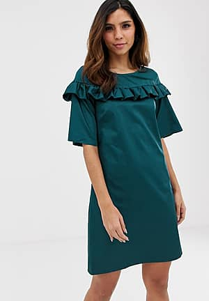 Closet frill detail tunic dress