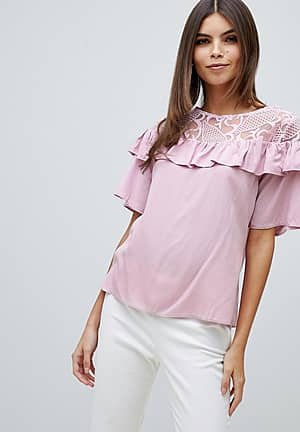 Closet Frill Lace Detailed Blouse