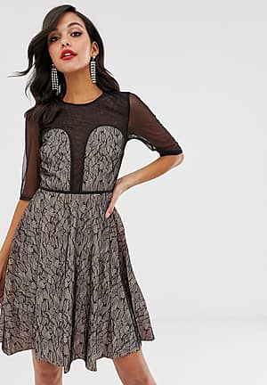 Contrast Lace Prom Dress