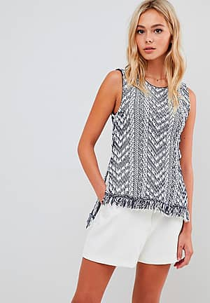 vest with tassels