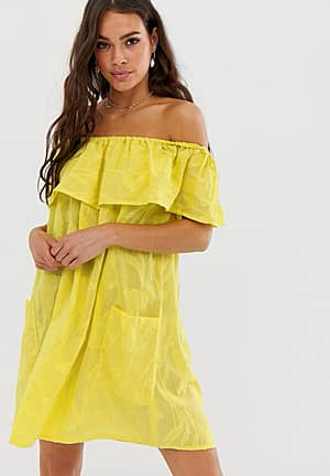 off shoulder beach dress