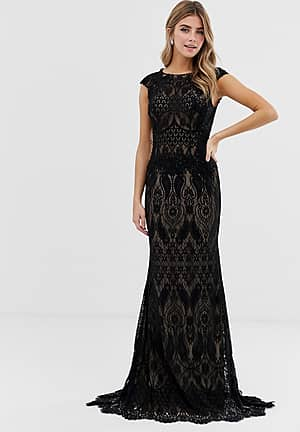 all over lace maxi dress