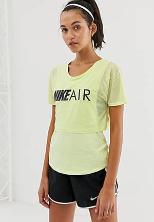 Nike Air Double Layer T-shirt In Lime