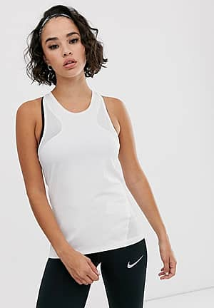 tank with mesh in white