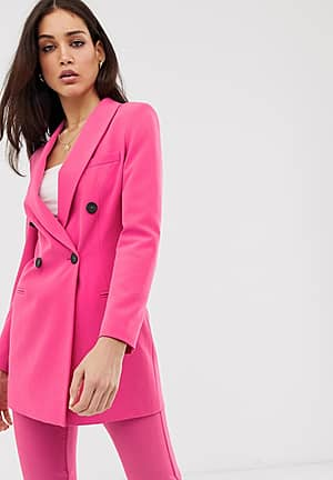 tailored blazer co ord in hot pink
