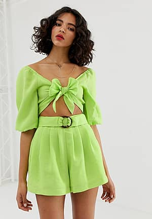 bow front crop top