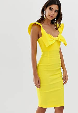 bow front bodycon dress