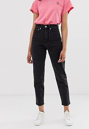 organic cotton Donna mom jeans