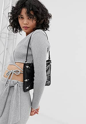 wrap crop top co-ord