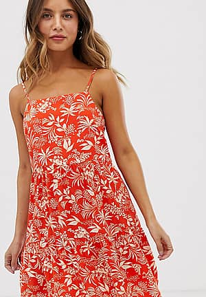 tiered sundress in red