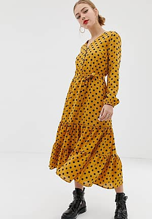 textured spot maxi shirt dress