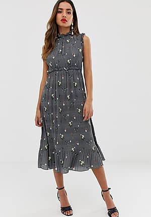 Toppaz oracle pleated midi dress