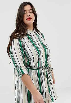 candy stripe shirt dress