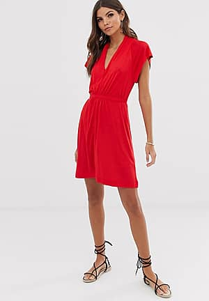 Meadow jersey drape dress