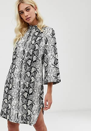 snake print long sleeve shirt