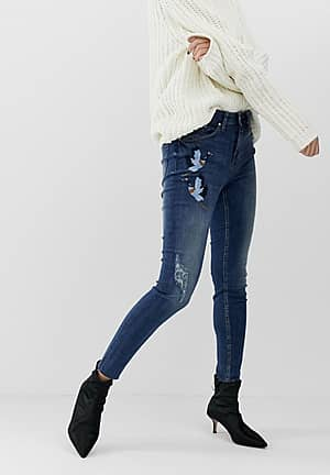 mom jeans with wearing