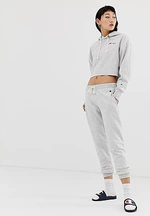 cuffed tracksuit bottoms with logo co-ord