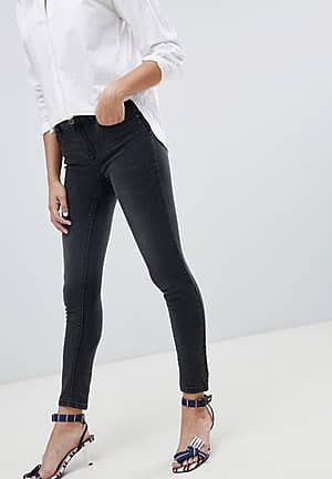 push up effect skinny jean in grey