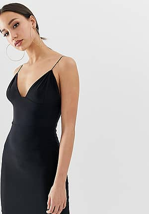 mini cami dress in black