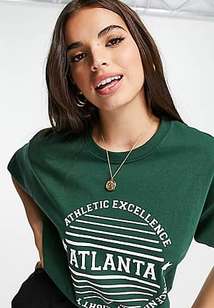 T-Shirt With Atlanta Print