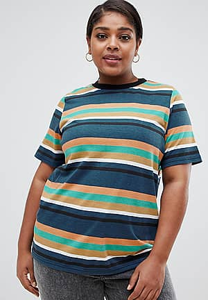 relaxed t-shirt in stripe