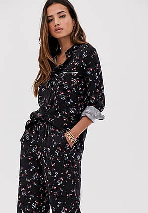 floral co-ord shirt