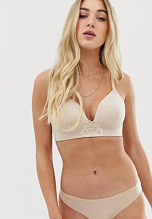 michelle moulded triangle bra a - d cup