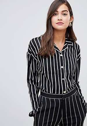 tie front stripped top