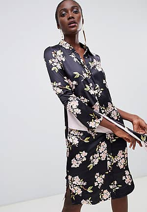 George floral printed shirt dress