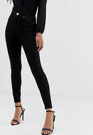 Ridley high waisted skinny jeans in clean black