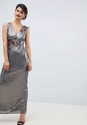 All Over Sequin Maxi Dress