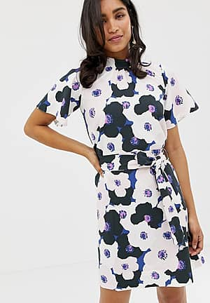 Closet Gathered Top A-line Dress